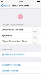 Apple iPhone SE - iOS 11 - Sécuriser votre mobile - Activer le code de verrouillage - Étape 8