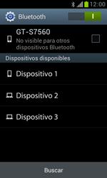 Samsung S7560 Galaxy Trend - Bluetooth - Conectar dispositivos a través de Bluetooth - Paso 6