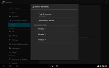 Sony SGP321 Xperia Tablet Z LTE - Réseau - utilisation à l'étranger - Étape 11