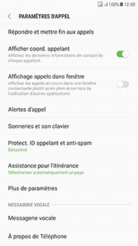 Samsung Galaxy J7 (2017) - Messagerie vocale - Configuration manuelle - Étape 6