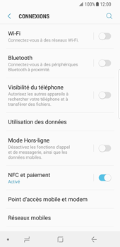 Samsung Galaxy S8 - Android Oreo - Wifi - configuration manuelle - Étape 4