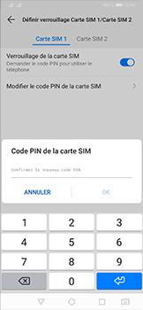 Huawei P30 - Sécurité - modifier SIM PIN - Étape 11