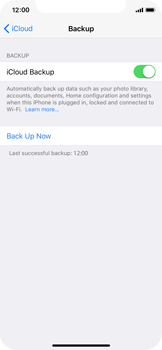 Apple iPhone X - Device maintenance - Create a backup of your data - Step 13
