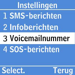 Samsung GT-E1200i - Voicemail - Handmatig instellen - Stap 5