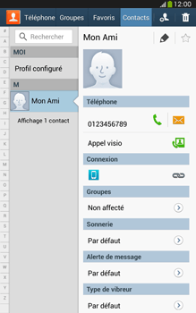 Samsung Galaxy Tab 3 8 4G - Contact, Appels, SMS/MMS - Ajouter un contact - Étape 8