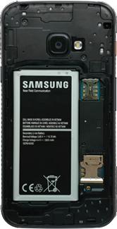 Samsung galaxy-xcover-4s-dual-sim-sm-g398fn - Instellingen aanpassen - SIM-Kaart plaatsen - Stap 3
