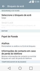 LG Y50 / LEON - Segurança - Como ativar o código de bloqueio do ecrã -  6