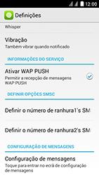 Huawei Ascend Y625 - SMS - Como configurar o centro de mensagens -  9