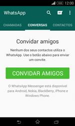 Sony Xperia E1 - Aplicações - Como configurar o WhatsApp -  13