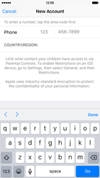 Apple iPhone 6 iOS 9 - Applications - Create an account - Step 23