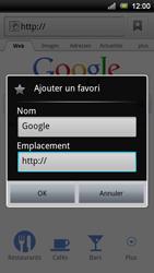 Sony Ericsson Xperia Ray - Internet - navigation sur Internet - Étape 5