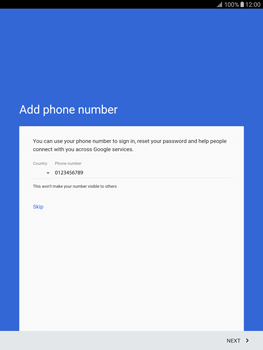 Samsung T815 Galaxy Tab S2 9.7 - Applications - Create an account - Step 14