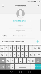 Huawei P9 - Contact, Appels, SMS/MMS - Ajouter un contact - Étape 4
