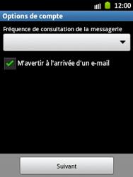 Samsung S5300 Galaxy Pocket - E-mail - Configuration manuelle - Étape 14