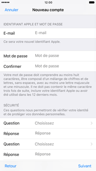 Apple Apple iPhone 6 Plus iOS 10 - Applications - Créer un compte - Étape 12