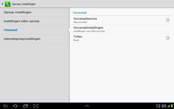 Samsung N8000 Galaxy Note 10-1 - Voicemail - Handmatig instellen - Stap 7