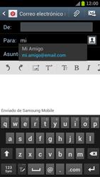Samsung I9300 Galaxy S III - E-mail - Escribir y enviar un correo electrónico - Paso 6