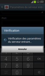 Samsung S7710 Galaxy Xcover 2 - E-mail - Configuration manuelle - Étape 11