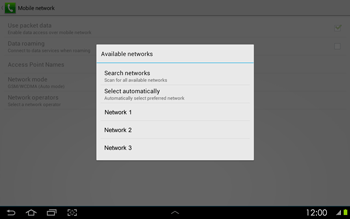 Samsung P5100 Galaxy Tab 2 10-1 - Network - Usage across the border - Step 8
