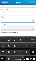 BlackBerry Z10 - E-mail - Account instellen (IMAP met SMTP-verificatie) - Stap 11