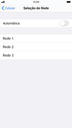 Apple iPhone 7 - iOS 13 - Rede móvel - Como selecionar o tipo de rede adequada - Etapa 6