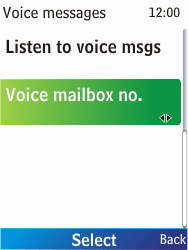 Nokia X2-00 - Voicemail - Manual configuration - Step 8