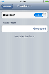 Apple iPhone 4S - Bluetooth - headset, carkit verbinding - Stap 8