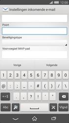 Sony D6503 Xperia Z2 - E-mail - e-mail instellen: IMAP (aanbevolen) - Stap 10