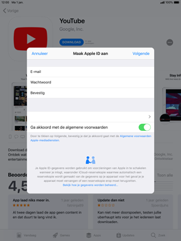 Apple iPad Air 2 - iOS 12 - Applicaties - Account instellen - Stap 11