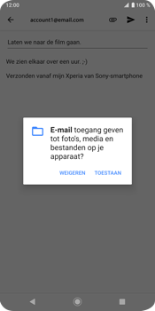 Sony Xperia XZ3 - E-mail - e-mail versturen - Stap 10
