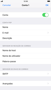 Apple iPhone 7 Plus iOS 11 - Email - Configurar a conta de Email -  25