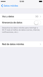Apple iPhone 5s iOS 10 - Red - Seleccionar el tipo de red - Paso 5