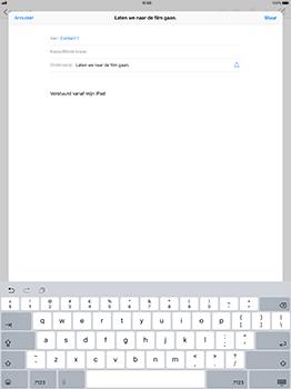 Apple iPad Pro 12.9 - iOS 11 - E-mail - Bericht met attachment versturen - Stap 7