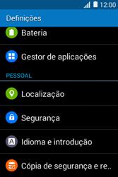 Samsung Galaxy Young II - Segurança - Como ativar o código PIN do cartão de telemóvel -  4