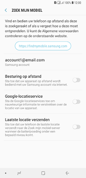 Samsung Galaxy A6 Plus - Beveiliging en privacy - zoek mijn mobiel activeren - Stap 6