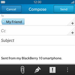 BlackBerry Q10 - Email - Sending an email message - Step 9