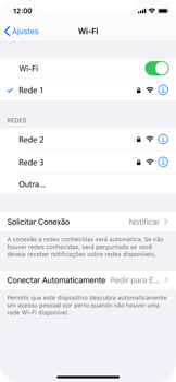 Apple iPhone X - iOS 13 - Wi-Fi - Como configurar uma rede wi fi - Etapa 7
