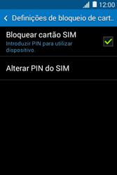 Samsung Galaxy Young II - Segurança - Como ativar o código PIN do cartão de telemóvel -  8