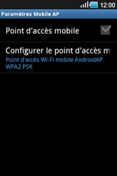 Samsung Galaxy Ace - Internet et connexion - Partager votre connexion en Wi-Fi - Étape 11