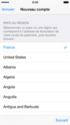 Apple iPhone 5s - iOS 8 - Applications - Créer un compte - Étape 10