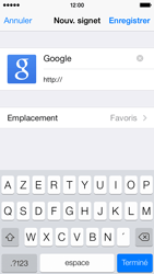 Apple iPhone 5 iOS 7 - Internet - navigation sur Internet - Étape 6