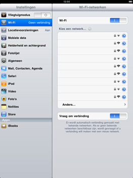 Apple iPad 2 - Wifi - handmatig instellen - Stap 5