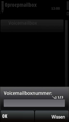 Nokia X6-00 - Voicemail - handmatig instellen - Stap 8