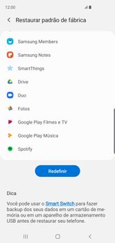 Samsung Galaxy S10 - Funções básicas - Como restaurar as configurações originais do seu aparelho - Etapa 7