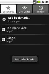 Samsung I5700 Galaxy Spica - Internet - Internet browsing - Step 12