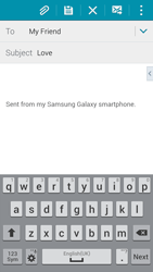 Samsung Galaxy Alpha - Email - Sending an email message - Step 9