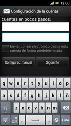 Sony Xperia J - E-mail - Configurar correo electrónico - Paso 6