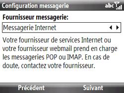 HTC S521 Snap - E-mail - Configuration manuelle - Étape 7