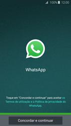 Samsung Galaxy J3 (2016) - Aplicações - Como configurar o WhatsApp -  5