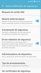 Samsung Galaxy S7 Edge - Segurança - Como ativar o código PIN do cartão de telemóvel -  6